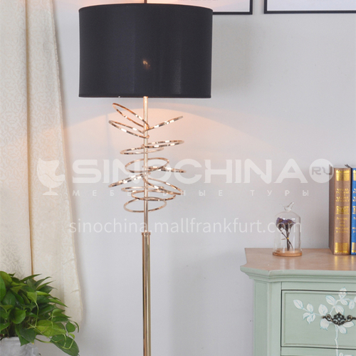 Black modern living room floor lamp bedroom study hall lamp large lampshade cool fashion simple lighting XYJJ-0519